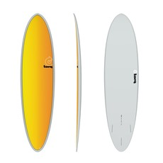 "Torq 7'2"" Torq Mod Fun Grey Yellow/Orange Fade Deck"