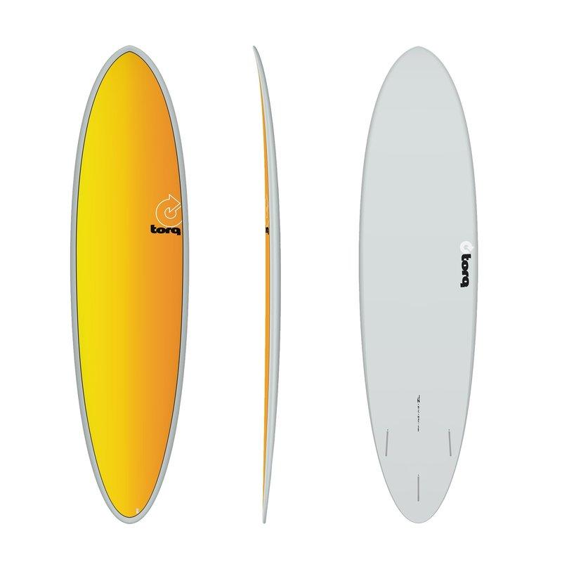 """Torq 7'2"""" Torq Mod Fun Grey Yellow/Orange Fade Deck"""
