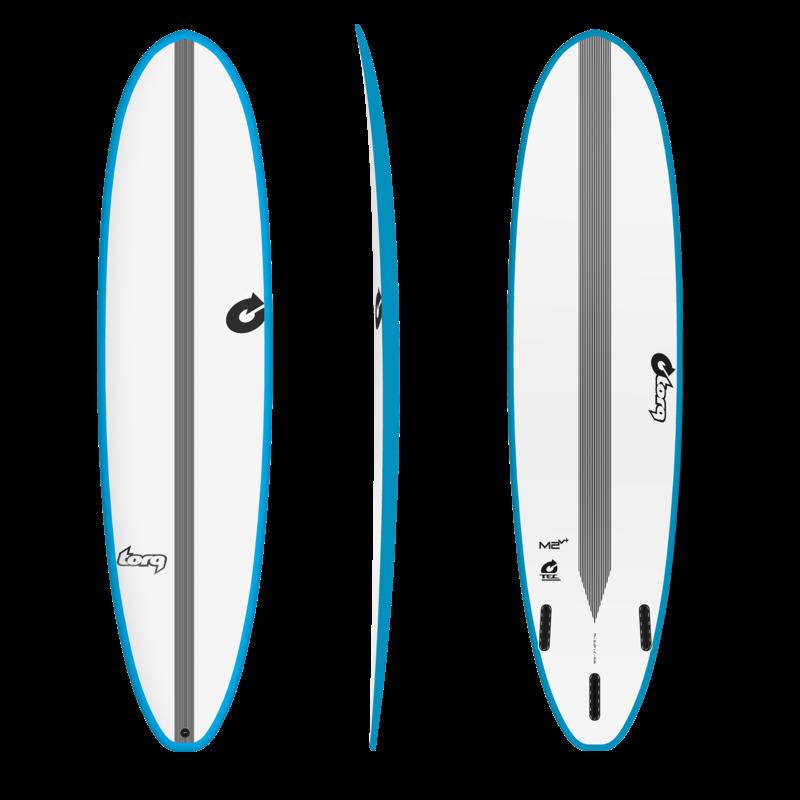 "Torq 8'0""Torq TEC M2V+ Longboard Blue Rails"