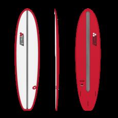 "Torq 7'8"" Torq Mod Fun V+ Pinline Chancho Red + White Deck"