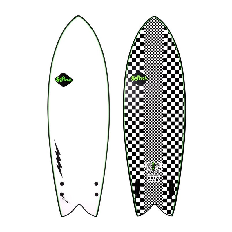 "Softech Softech Kyuss Fish 5'8"" Soft Surfboard Checkered"