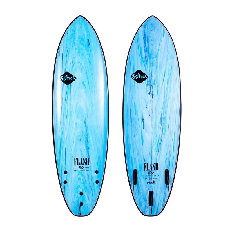 "Softech Softech Flash Eric Geiselman 7'0"" Soft Surfboard Aqua Marble"