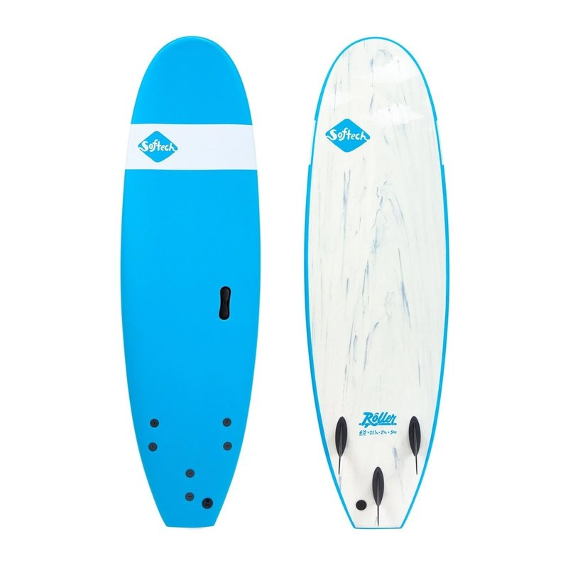"""Softech Softech Roller 7'6"""" Soft Surfboard Blue"""