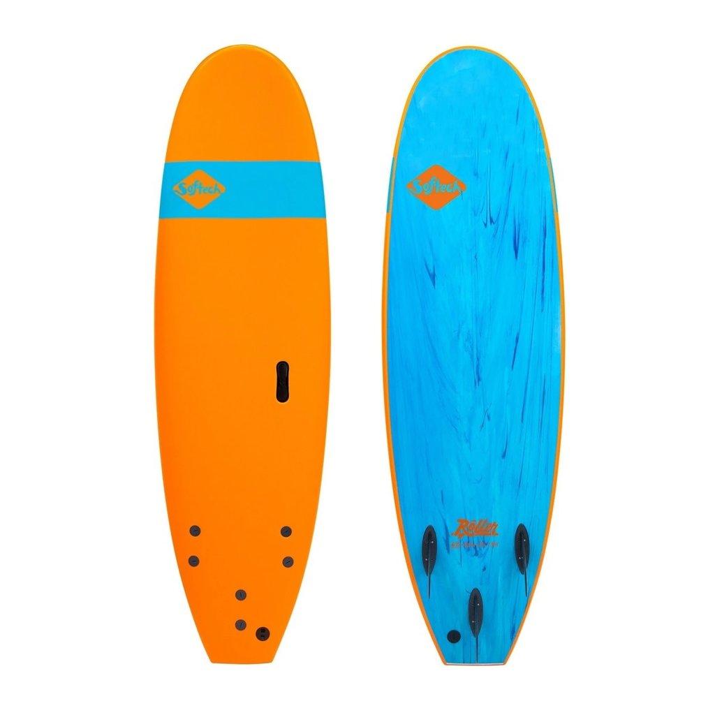 """Softech Softech Roller 7'6"""" Soft Surfboard Orange"""