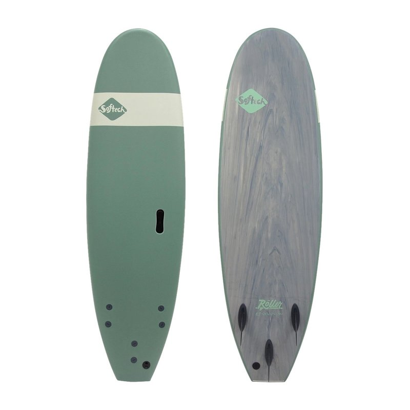 "Softech Softech Roller 7'6"" Soft Surfboard Smoke Green"