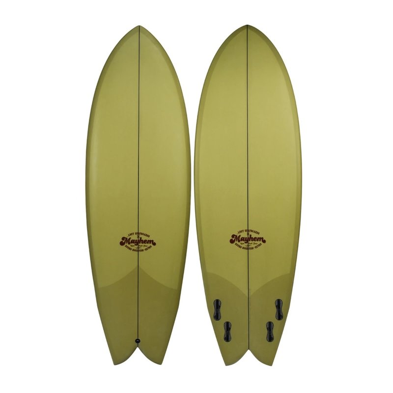 """...Lost Surfboards 5'6"""" Lost Round Nose Fish Retro Lime Tint"""