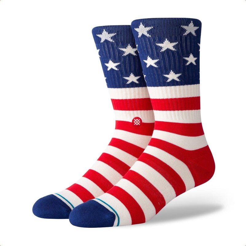 Stance Stance The Fourth St Crew Sock Red L