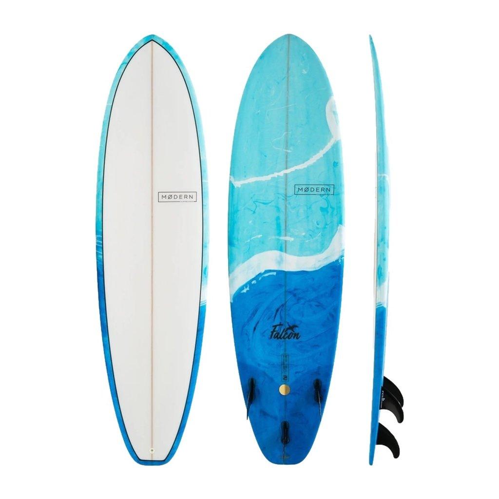 "Modern 7'6"" Modern Falcon Blue Swirl Tint"