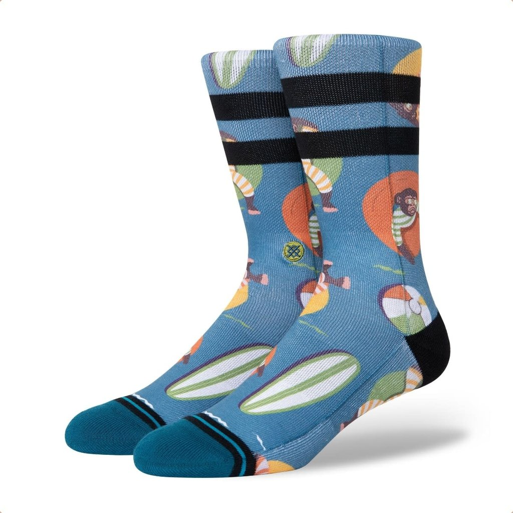 Stance Stance Monkey Chillin Mid Cushion Sock Teal L