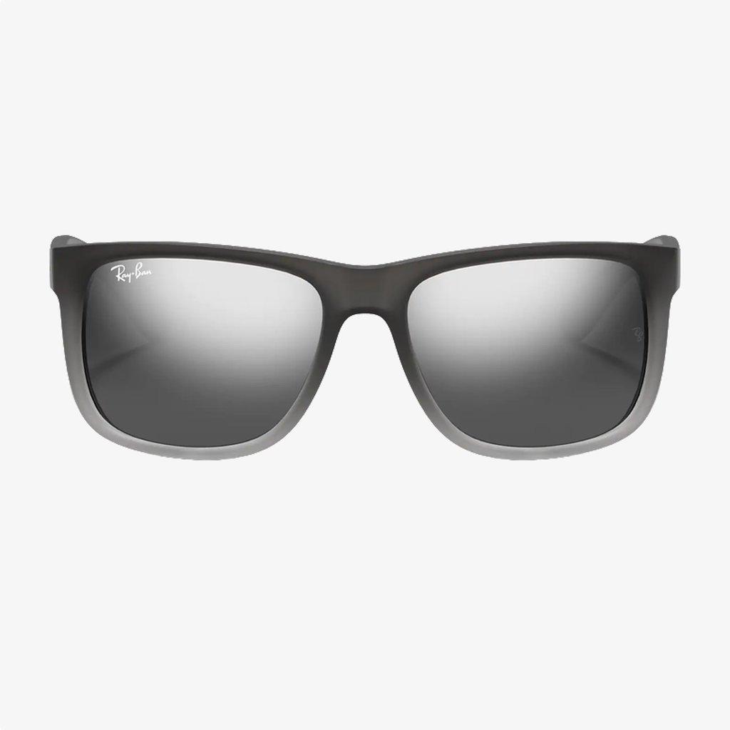 Ray-Ban Ray-Ban Justin Rubber Grey On Clear Grey w/Grey Silver Mirror
