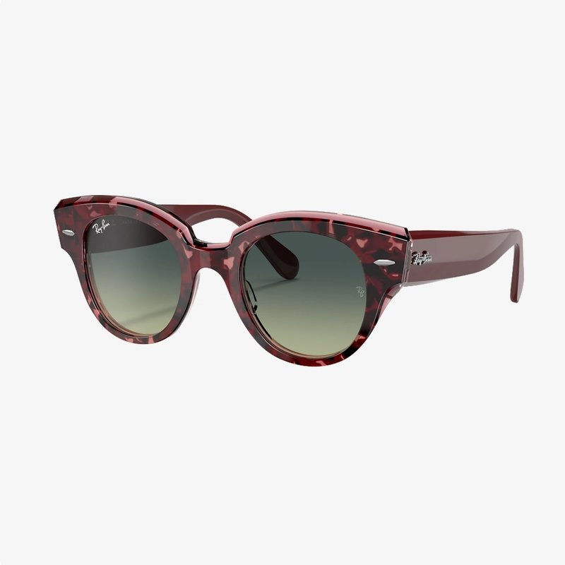Ray-Ban Ray-Ban State Street Havana on Transparent Purple w/Green Vintage