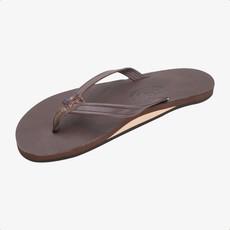 Rainbow Sandals Rainbow Sandals Women's Single Layer Classic Leather Narrow Strap Mocha