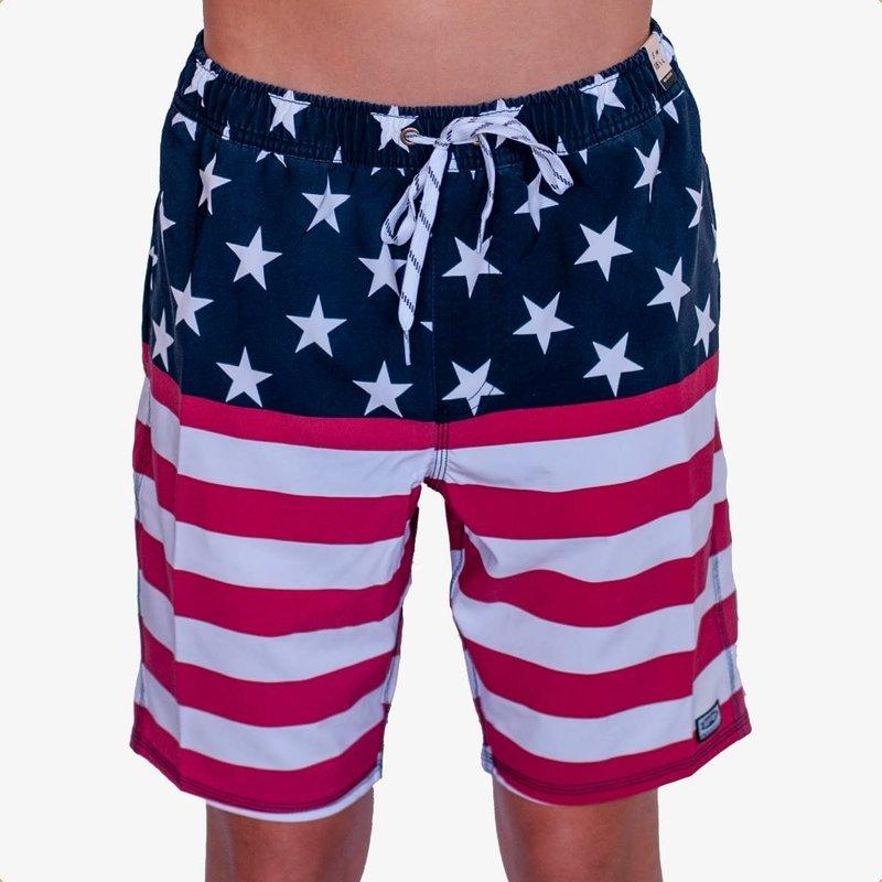 """Surfari Surfari Men's America F@!k Yeah 18.5"""" Baggies Shorts"""