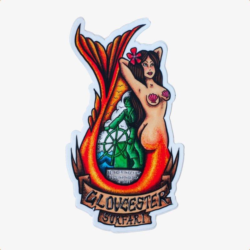 Surfari Surfari Gloucester Mermaid Sticker