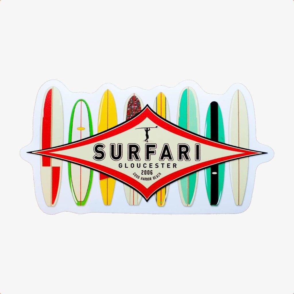 Surfari Surfari Quiver Sticker