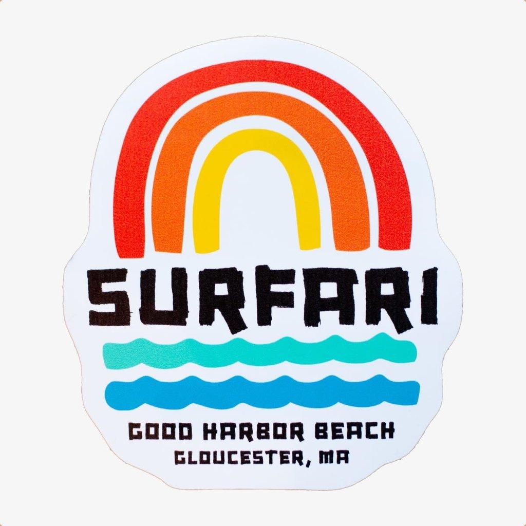 Surfari Surfari In Rainbows Sticker