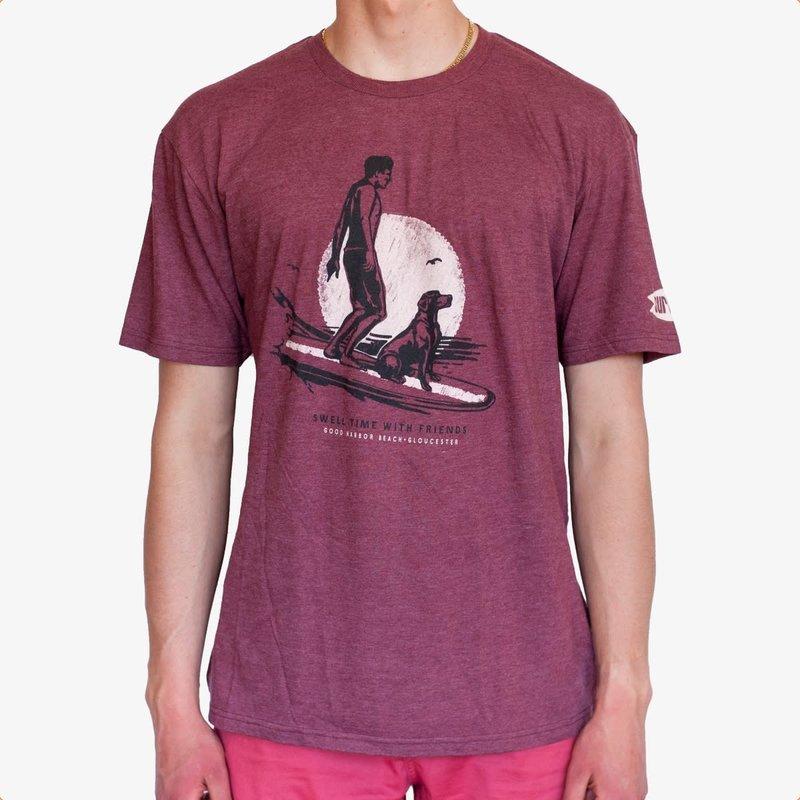 Surfari Surfari Surf Dog Good Harbor Beach T-shirt