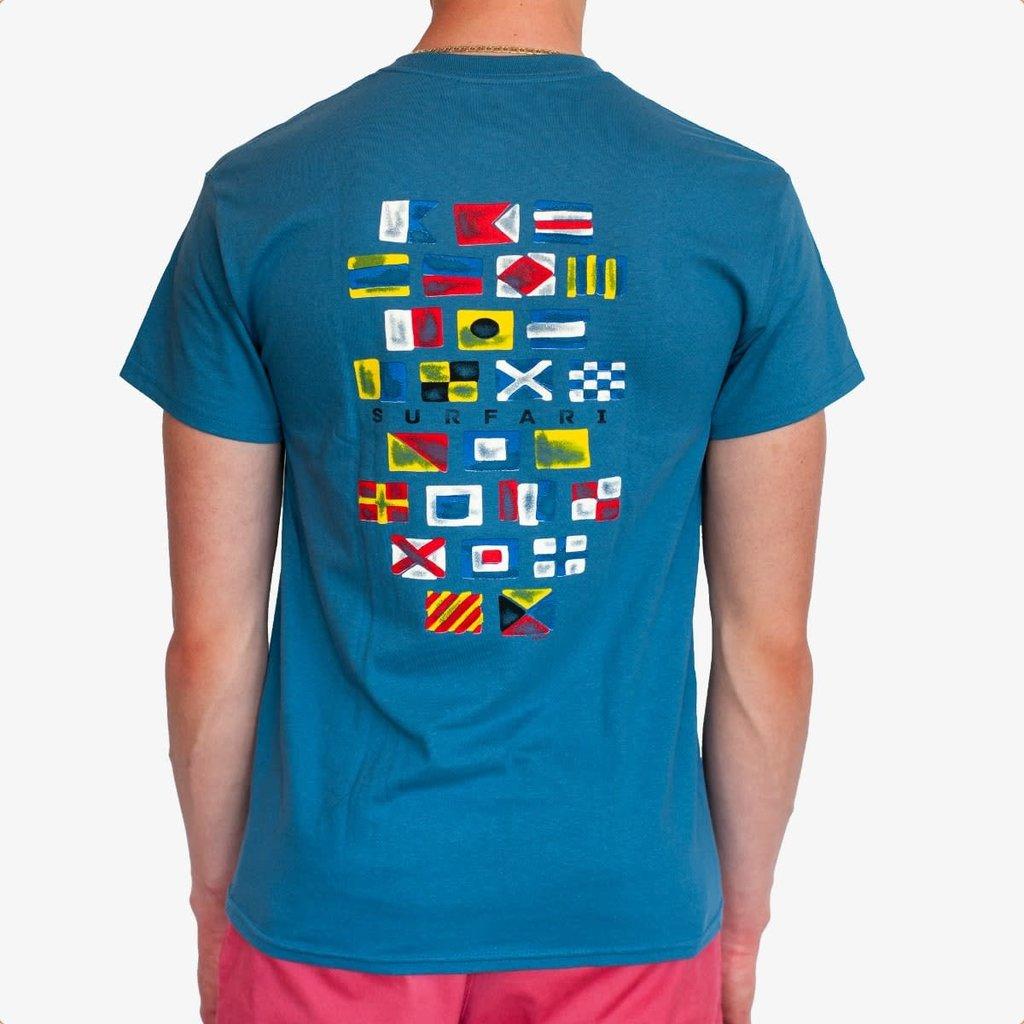 Surfari Surfari Nautical Flag T-shirt