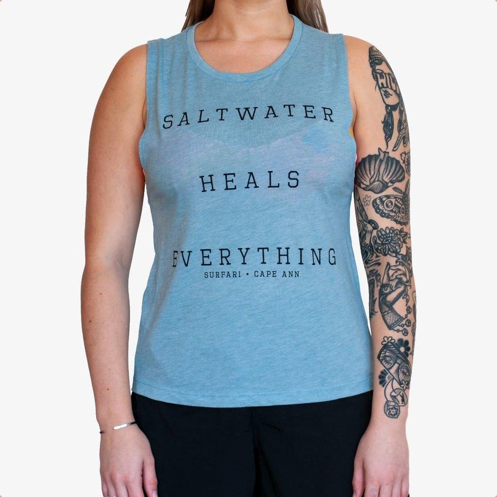 Surfari Surfari Saltwater Heals Women's Festie Tank Denim