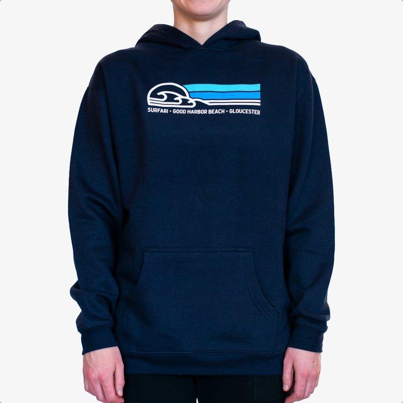 Surfari Surfari GHB Wave Youth Hoodie Navy