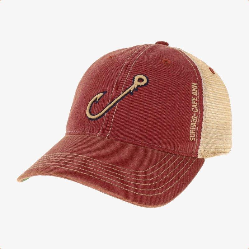 Surfari Surfari Fish Hook Trucker Hat Cardinal