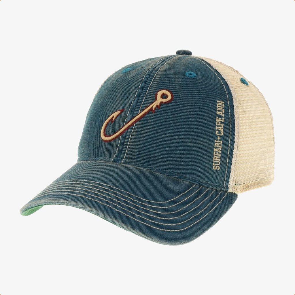 Surfari Surfari Fish Hook Trucker Hat Marine Blue