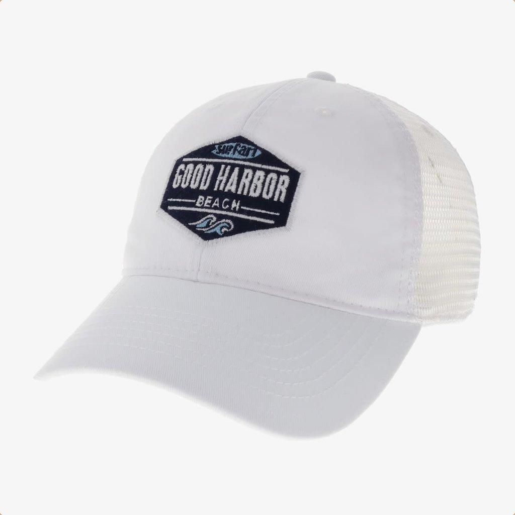 Surfari Surfari Good Harbor Beach Patch Trucker White