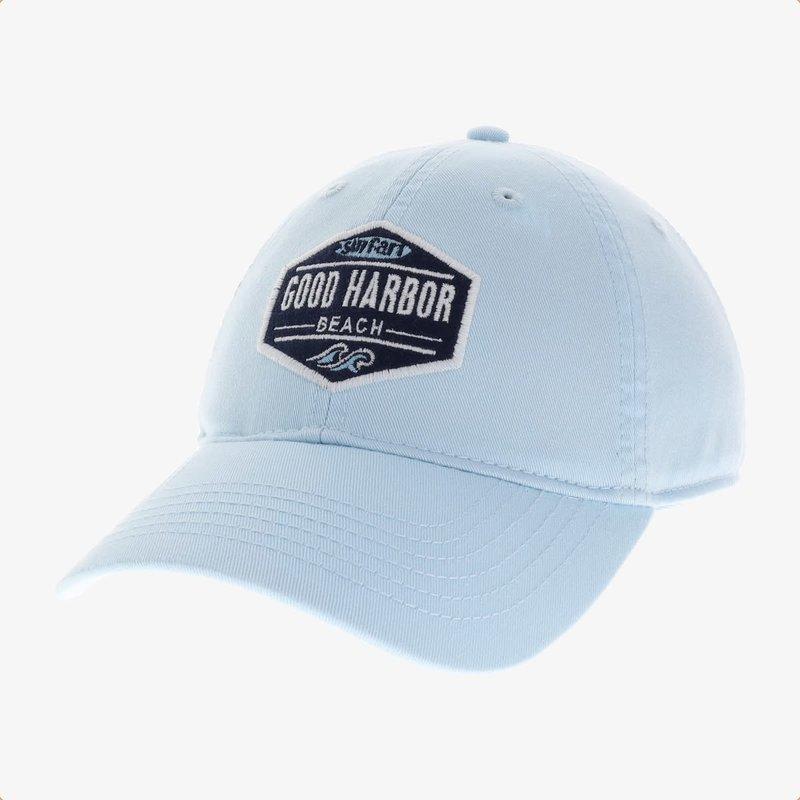 Surfari Surfari Good Harbor Beach Patch Relaxed Twill Hat Powder Blue