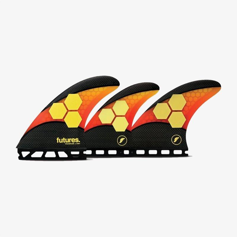 Futures Futures AM2 5-Fin Set Techflex Large Orange/Red