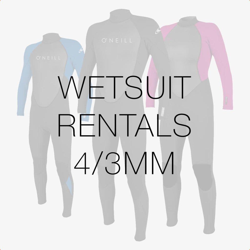 Surfari Wetsuit Rental 4/3mm
