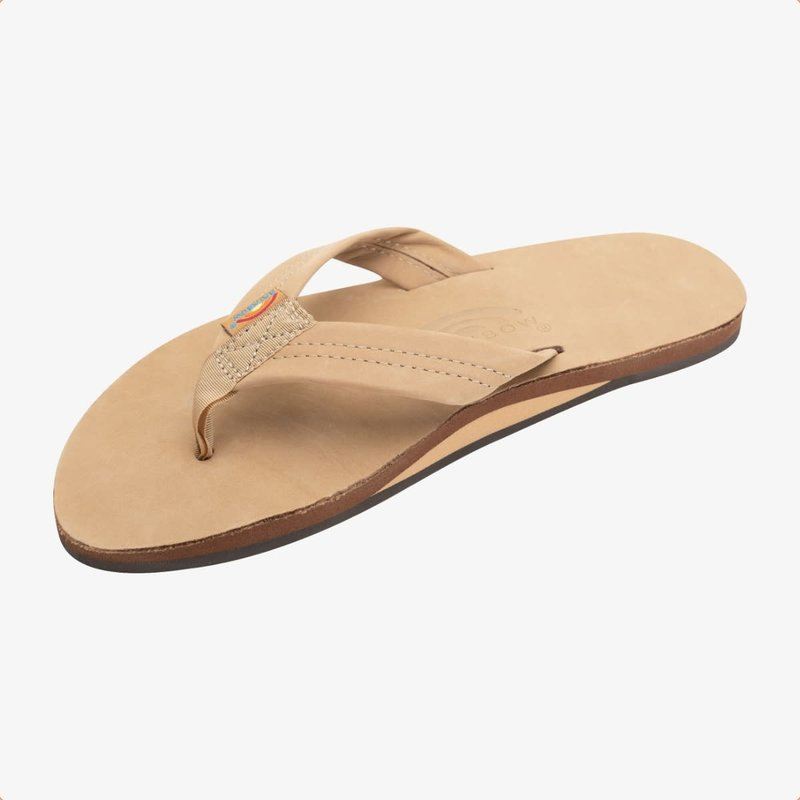 Rainbow Sandals Rainbow Sandals Men's Single Layer Premier Leather With Arch Support Sierra Brown
