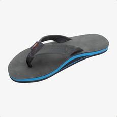 Rainbow Sandals Rainbow Sandals Men's Premier Blues Single Layer Premier Leather with Blue Midsole Premier Black