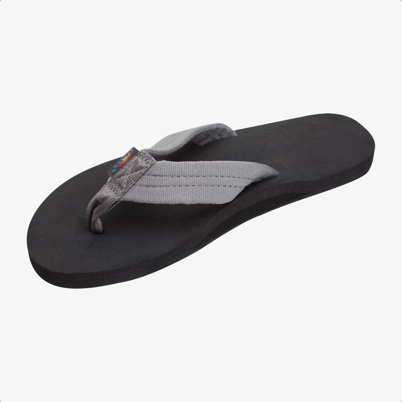Rainbow Sandals Rainbow Sandals Men's The Cloud Single Layer Soft Top With Arch Support And Polyester Strap Grey