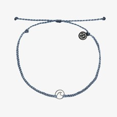 PuraVida Pura Vida Mini Wave Charm Anklet Blue Steel