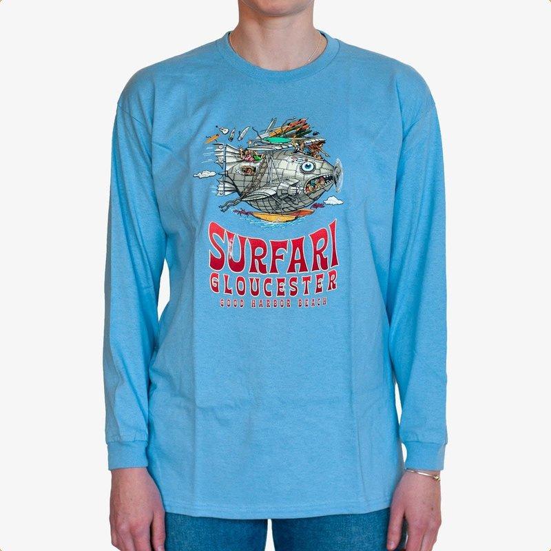 Surfari Surfari Youth Surf Tours L/S T-Shirt Sky Blue