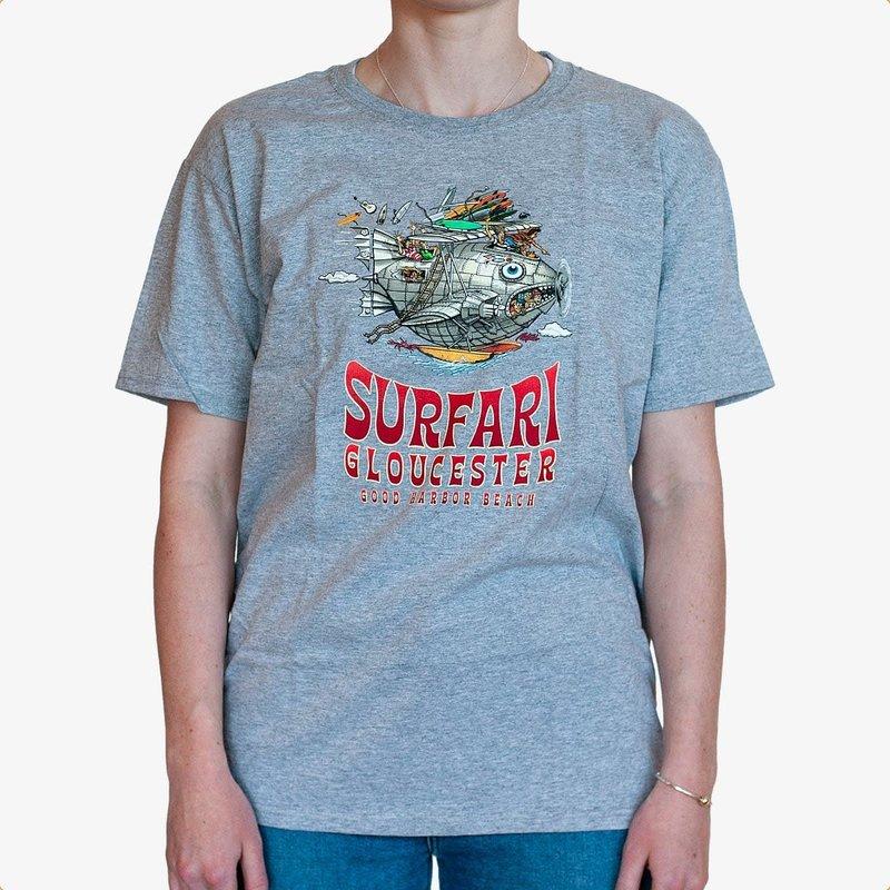 Surfari Surfari Youth Surf Tours T-Shirt Heather Grey