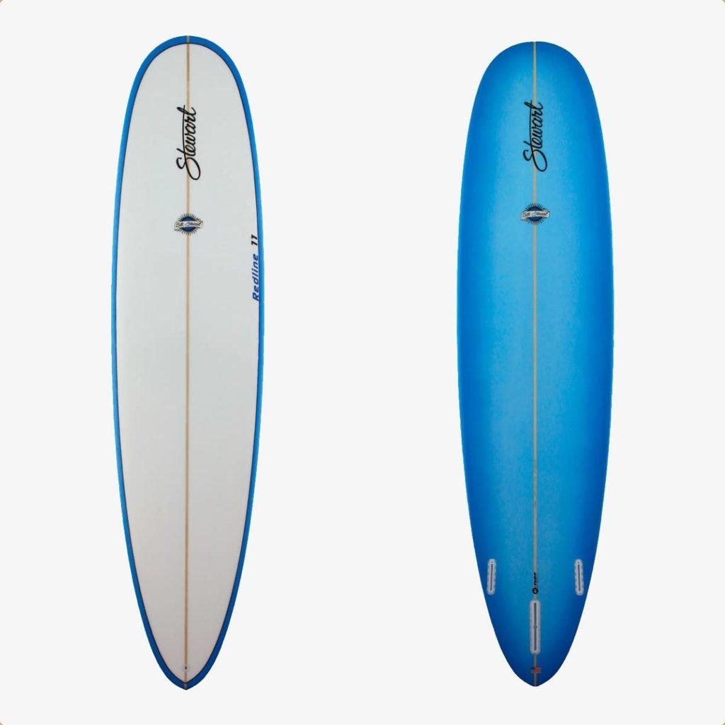 """Stewart Surfboards 9'0"""" Stewart Redline 11 Blue With White Deck"""
