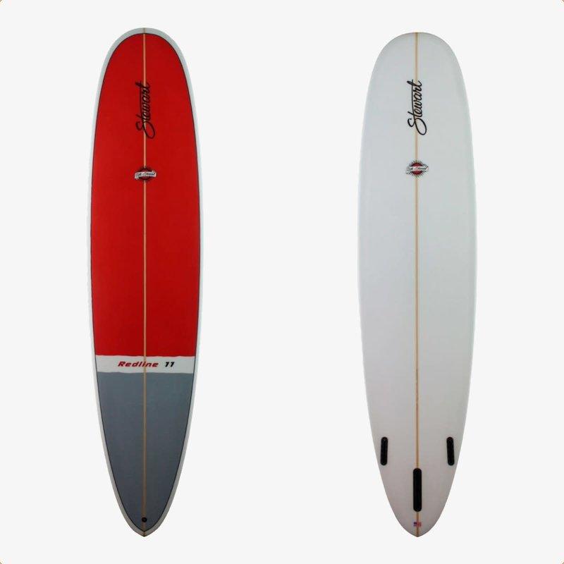 """Stewart Surfboards 9'0"""" Stewart Redline 11 Red/Grey Deck"""
