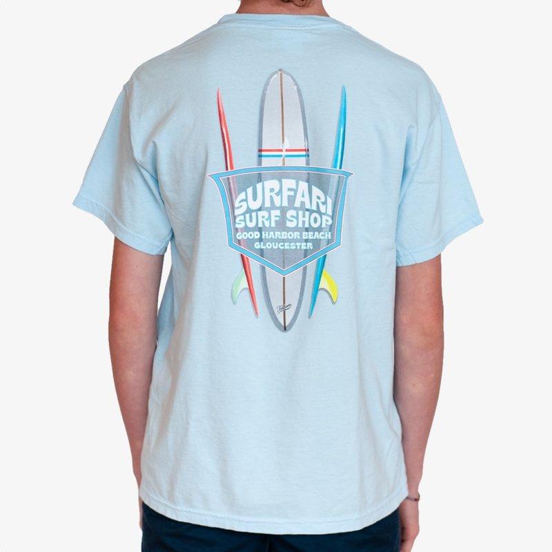 Surfari Surfari Board Rack T-shirt Sky Blue