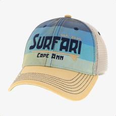Surfari Surfari Cape Ann Trucker Hat Blue Stripes