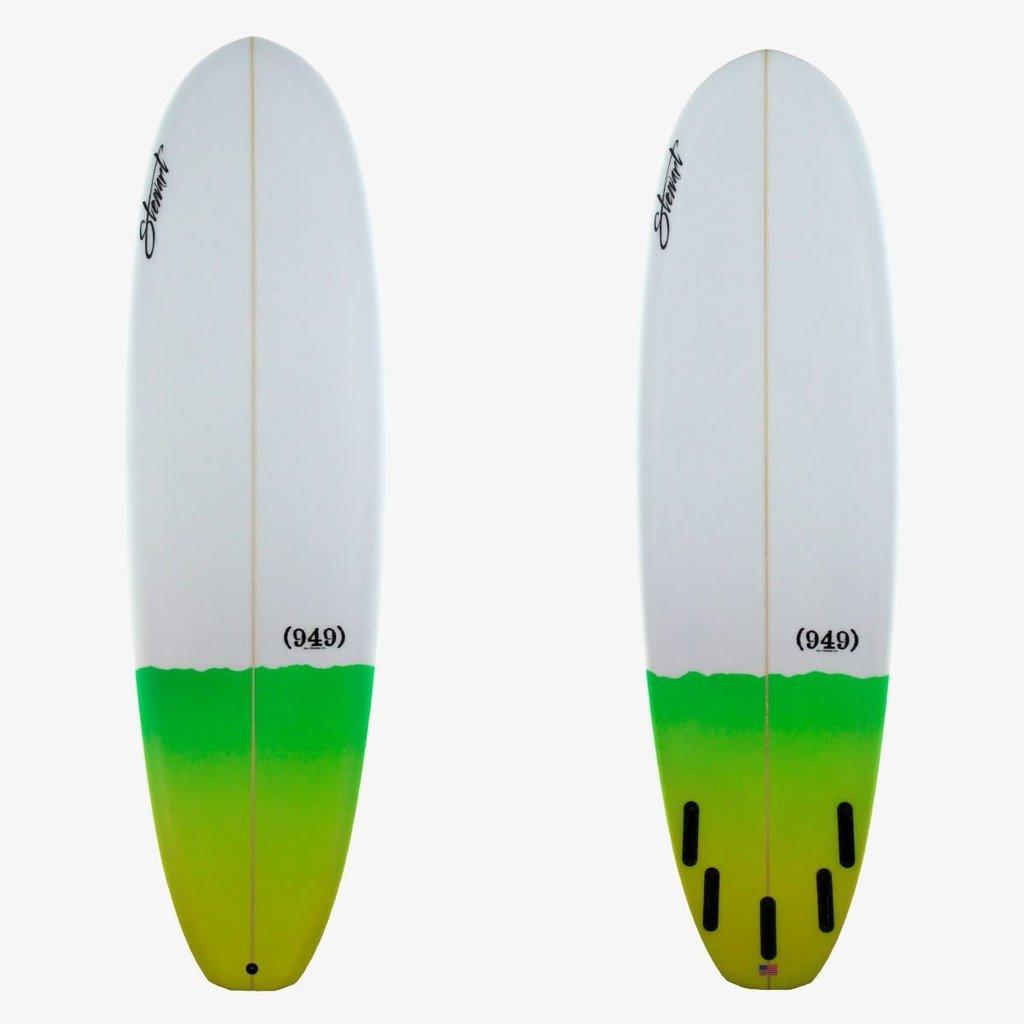 """Stewart Surfboards 7'0"""" Stewart 949 Green Tail Dip"""