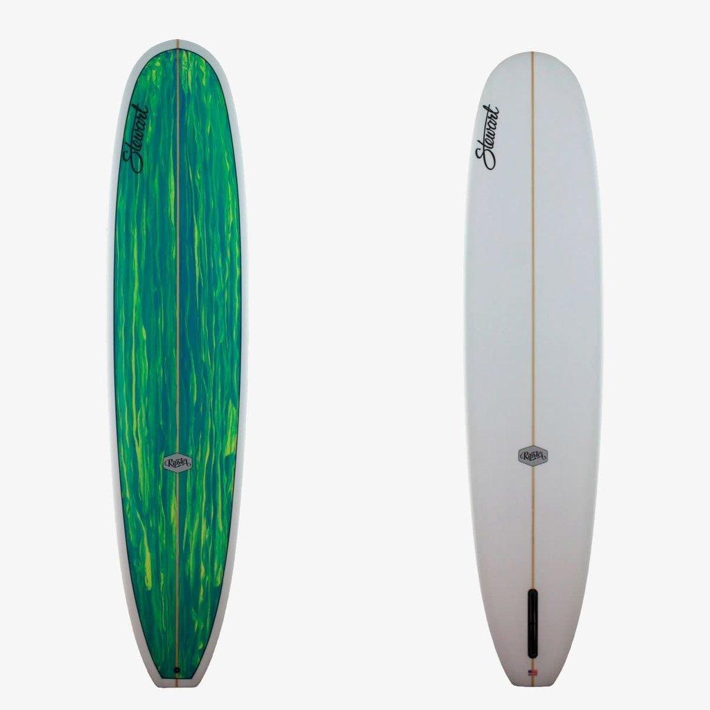 """Stewart Surfboards 9'6"""" Stewart Ripster Green/Yellow Deck"""
