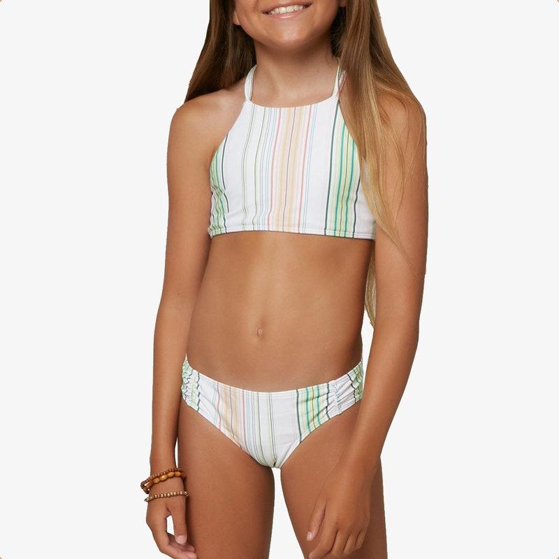O'Neill O'Neill Girl's Beach Stripe Braided Hi-Neck Top Set