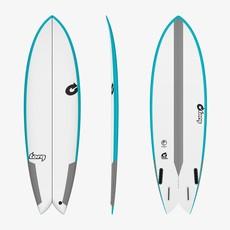 """Torq 6'6"""" Torq TEC Fish Tecnicolor Blue Rails"""
