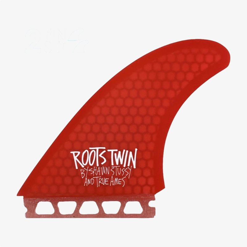 True Ames True Ames Fins Stussy Roots Twin - Futures Compatible Red Hexcore
