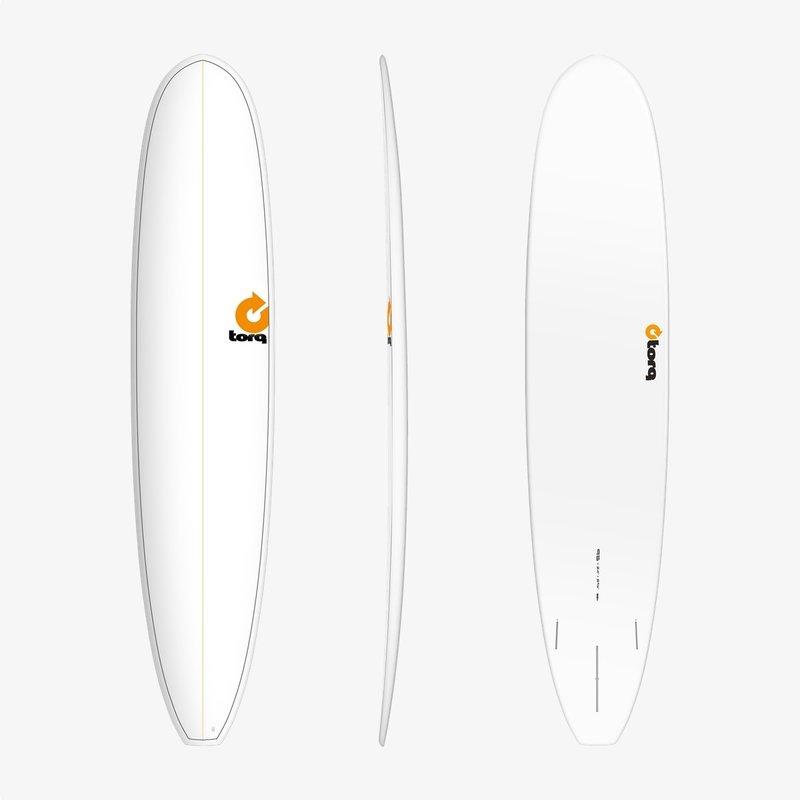 "Torq 9'6"" Torq Longboard White Pinline"