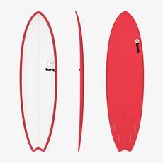 "Torq 6'10"" Torq Mod Fish Pinline Red + White Deck"