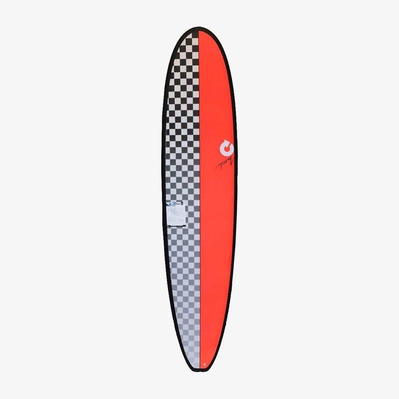 """Torq 8'0"""" Torq Mini-Long Checkers Red"""