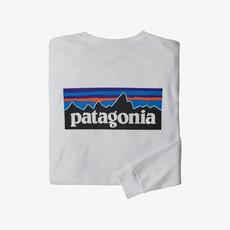 Patagonia Patagonia Men's Long-Sleeved P-6 Logo Responsibili-Tee White