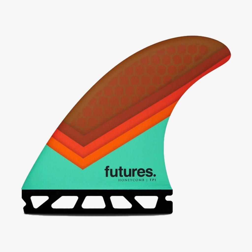 Futures Futures TP1 Honeycomb Thruster Teal/Orange/Brown Large